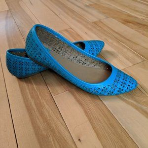 Perforated Teal Flats